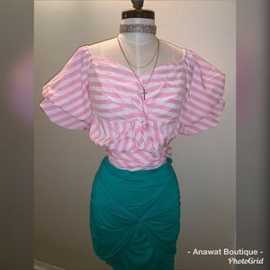 Anawat Boutique Tops - Social Butterfly Puff Short Sleeve Top
